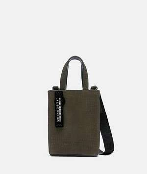 Petit Suede with Lizard Paper Bag XS Elephant Green