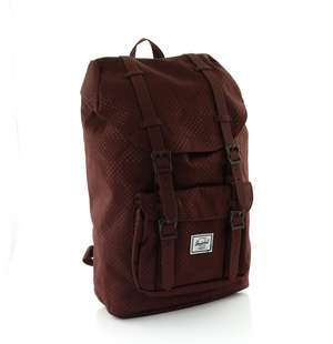Little America Mid-Volume Laptoprucksack plum dot check