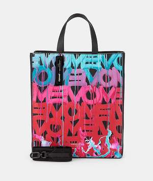 Paper Bag Tote M Tragetasche black with poppy red