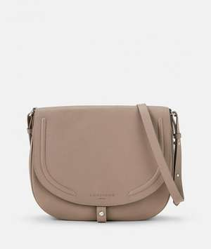 Round Love Note Crossbody L taupe