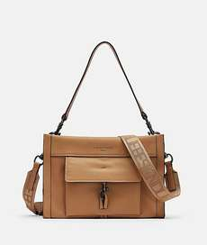 Georgia Satchel M Light Tan