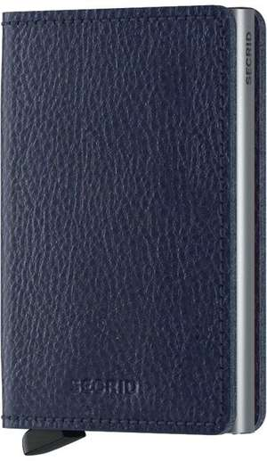 Slimwallet Vegetable navy silver