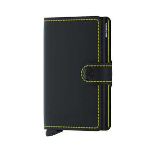 Miniwallet Matte Black & Yellow