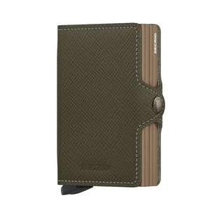 Twinwallet Saffiano Olive