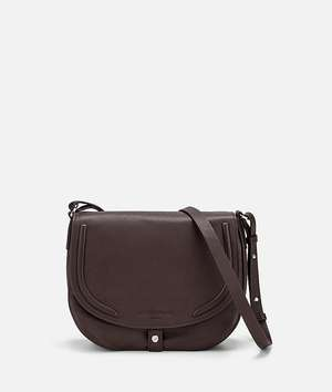 Round Love Note Crossbody M dark brown